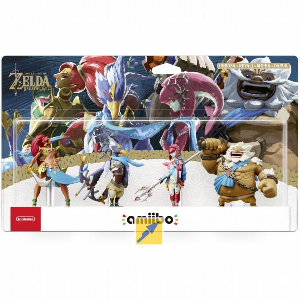 [Technikdirekt] Nintendo amiibo Set - The Legend of Zelda Collection: Breath of the Wild Recken (4x amiibo, Nintendo 2DS, 3DS, Switch kompatibel)