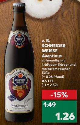 """[Kaufland ab 14.12.] Bock auf Weizenbock? - Schneider Weisse TAP 6 """"Mein Aventinus"""""""