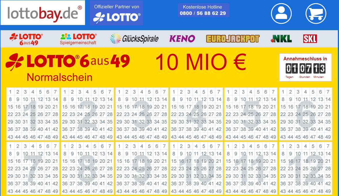 NEUKUNDEN - 5€ LottoBay Gutschein mit 5€ Mindestbestellwert