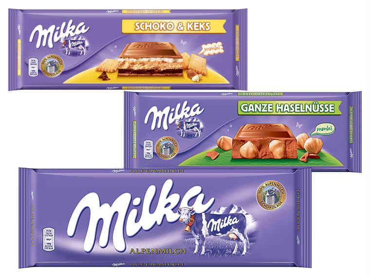 LIDL MILKA Tafelschokolade 300g ab Mo 18.12.17