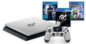 *Reminder* SONY PlayStation 4 PS4 silber 1TB GT Sport Limited Edition + 3 weitere Spiele