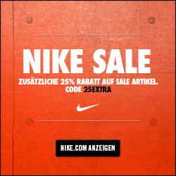 Nur noch heute 25% extra Rabatt auf alle Sale-Artikel bei Nike *Update*