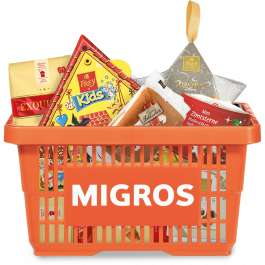 Gefülltes Mini-Migros-Körbli gratis + 4,95€ Versand