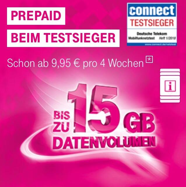 Neue Telekom Prepaid Tarife ab 9,95€ab 1GB