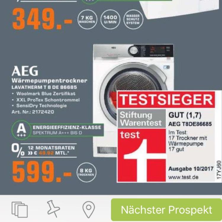 (Lokal) AEG T8DE86685 Wärmepumpentrockner
