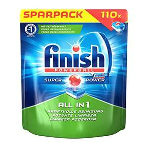 110 Finish All in 1 Spülmaschinentabs für 8,43€ (0,08€/Tab) bei Amazon Prime