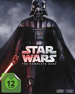 Star Wars Saga (Episode 1-6) auf Bluray für 48€ [Amazon]