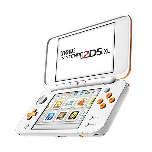 New Nintendo 2DS XL Weiß + Orange und schwarz türkis
