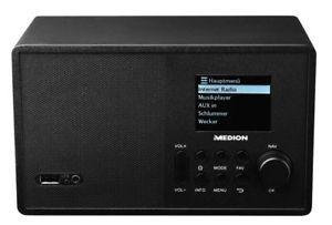 MEDION E85040 MD 87540 Wireless LAN Internet Radio UKW-Empfänger DLNA schwarz