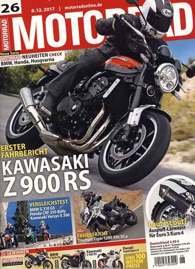 Motorrad - 4 Monate (9 Ausgaben) für 31,85€ mit 25€ Verrechnungsscheck und 5€ Amazon-Gutschein