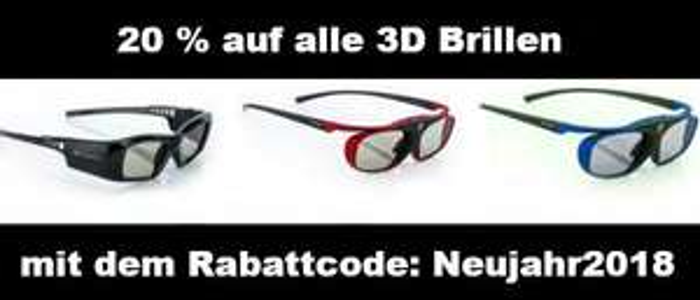 20% auf alle 3D Brillen bei Hi-Shock