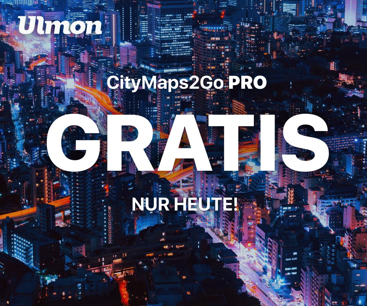 CityMaps2Go Pro GRATIS (statt 10,99€) [Jetzt auch für Android]