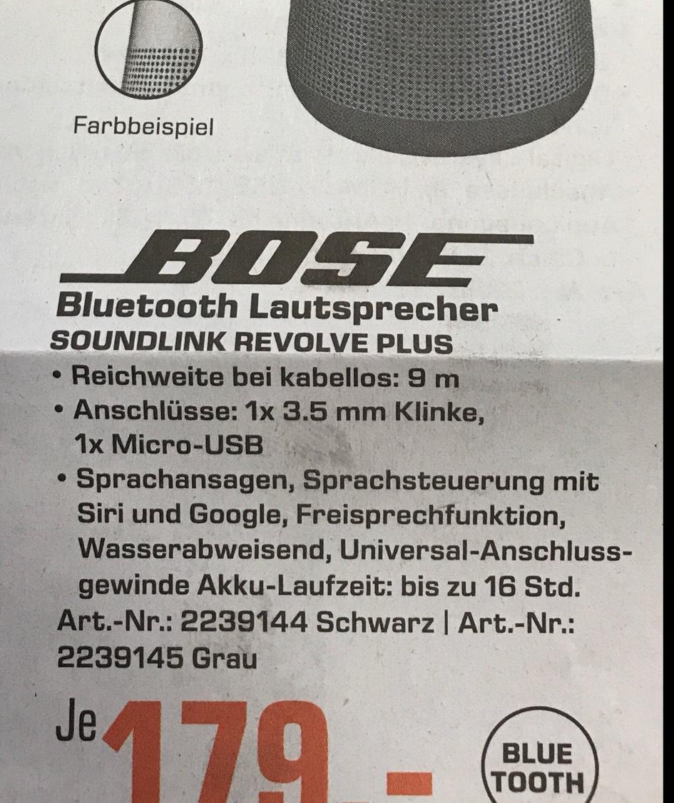 Bose Soundlink Revolve Plus für 179 Euro im Saturn