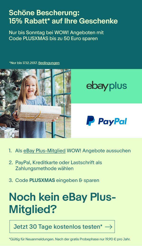 15% auf WOW Artikel für eBay Plus Mitglieder