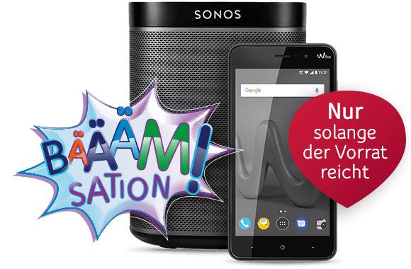 Sonos Play:1  für 157€ und Wiko Lenny 4 für 79€