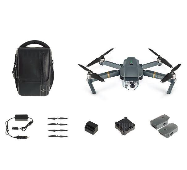 DJI Mavic Pro 4K Drohne – Fly More Combo inkl. 3 Akkus - Gearbest