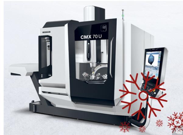 Weihnachtsspezial bei DMG Mori, fit für Industrie 4.0, Lieferung noch 2017: DMG CMX 70U 5 Achs Universal-Bearbeitungszentr Model 2017 inkl.Lieferung und Inbetriebnahme für 168900 Euro. und vieles mehr...
