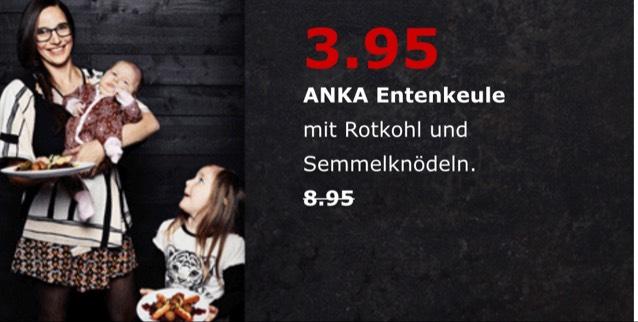 [Ikea Tempelhof und Lichtenberg] Entenkeule mit Rotkohl und Semmelknödel am 17.12.2017 ab 12:30 Uhr