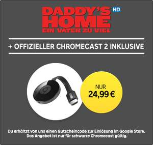 Google Chromecast 2 + Leihfilm »Daddy's Home« in HD [RakutenTV]