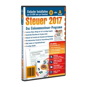 [Aldi Süd/Nord] Steuer 2017 CD-ROM (entspricht t@x 2018, nur ohne Fahrtenbuch) + Gewerbe-/Umsatzsteuer