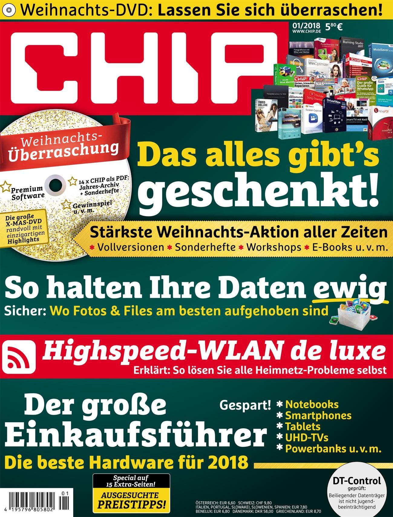 3 Ausgaben Chip mit DVD für 11,90€ plus 10€ amazon Gutschein