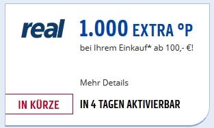 Maximal 10% Rabatt: 1.000 Payback Punkte ab 100€ bei Real.de ab dem 18.12.17