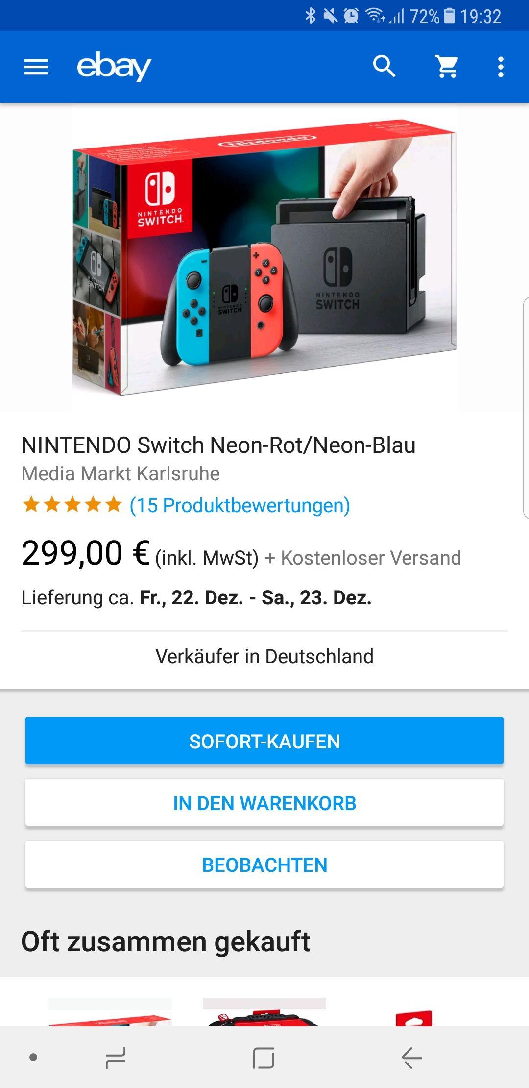Nintendo Switch Bei Media Markt Ebay