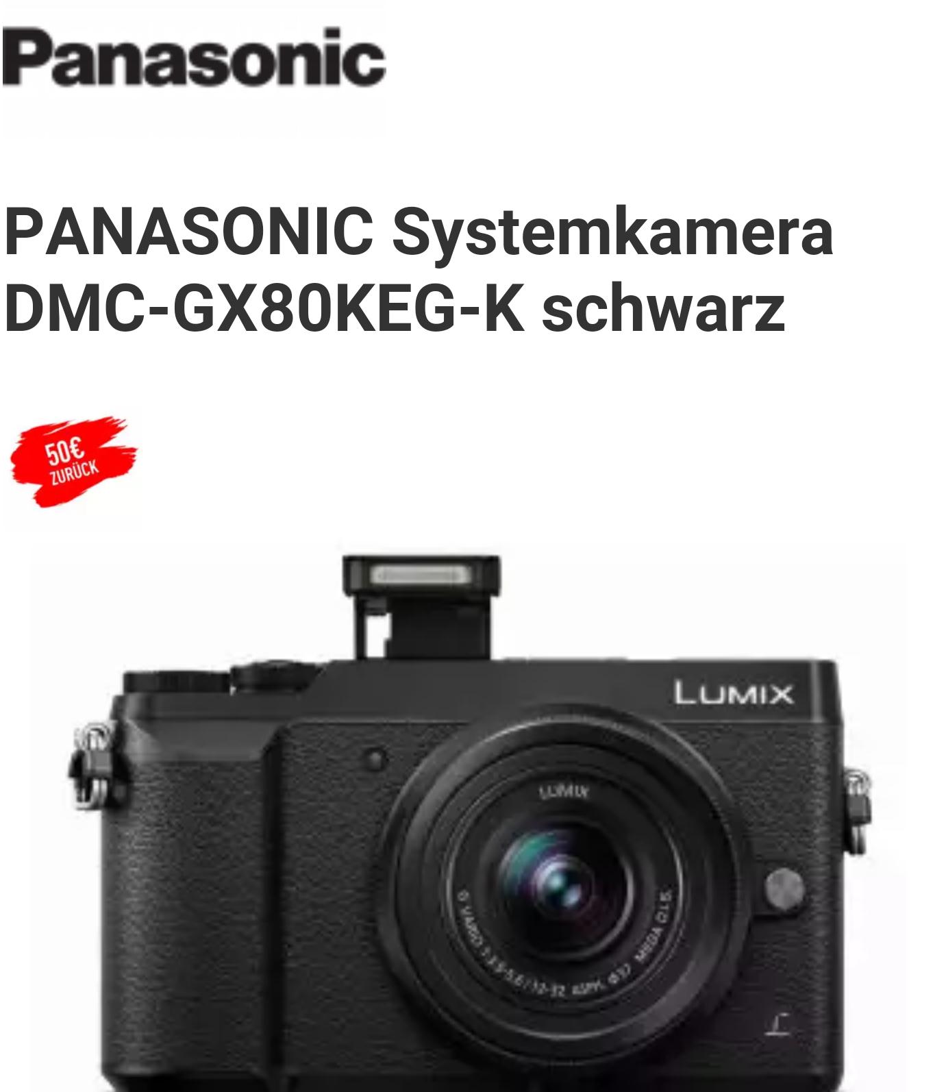 [Expert ESC] Panasonic Lumix DMC-GX 80 Kit 12 - 32 mm, 50 € Cashback möglich