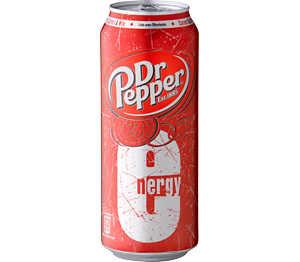 Dr. Pepper Energy -Drink für 0,99 die Dose und Powerade Orange für 0,50 die Flasche