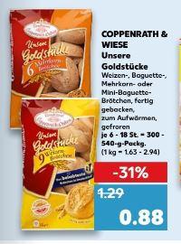 [Kaufland, Edeka Nord, Rewe] Coppenrath & Wiese Goldstücke für 0,58€ pro Packung mit Coupon