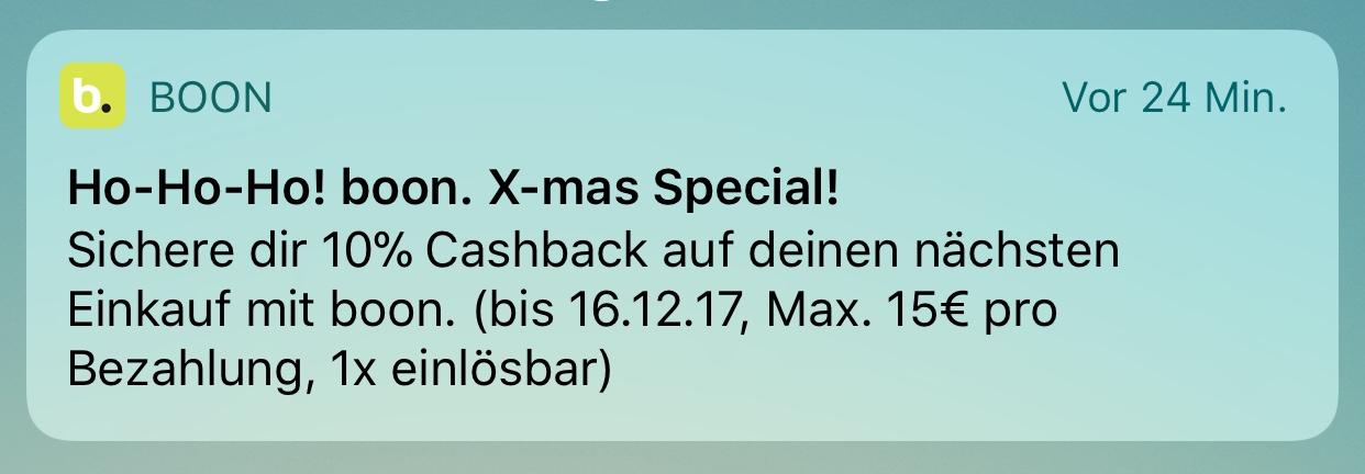 10% (max. 15€) Cashback mit Boon – virtuelle MasterCard – z.B. 150€ Amazon für 135€