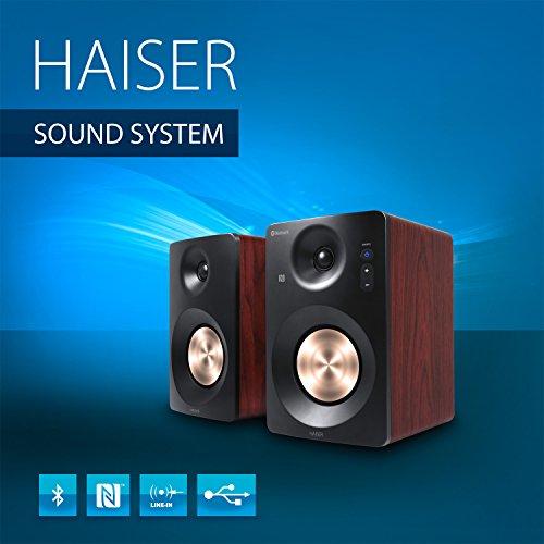 HAISER HSR 120 BT Hifi Anlage mit  Bluetooth USB • NFC • Boxen