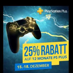 PlayStation Plus - 12 Monate 44,99€ im PS Store