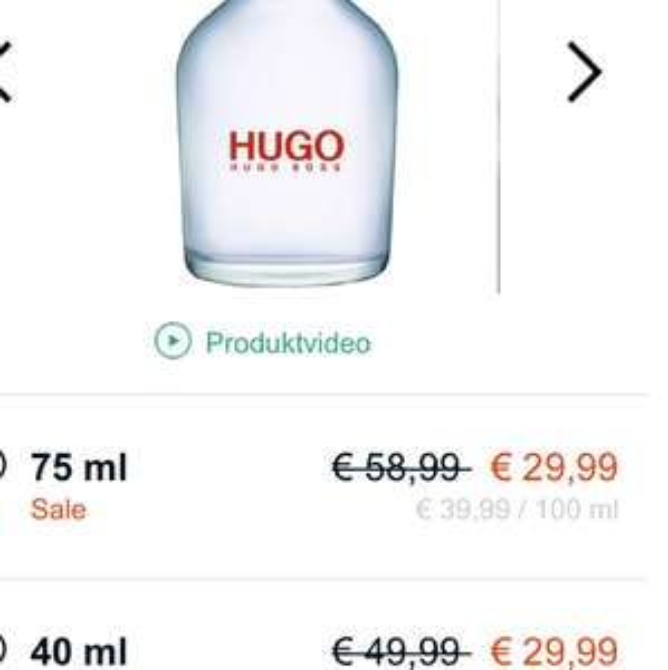 Hugo Boss Hugo für 200ml