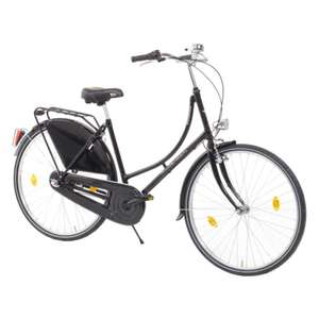 Hollandrad Amsterdam Damen, schwarz, 28 Zoll, 50cm Rahmenhöhe, 3 Gang
