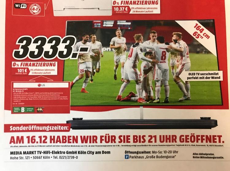 LG Signature 65W7 Oled TV [Media Markt Köln Dom]