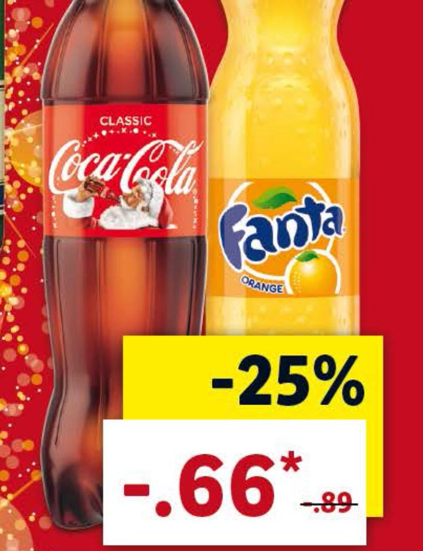 Die 1,25l Coca Cola für 66 Cent (Lidl)