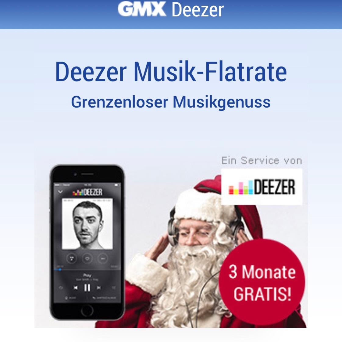 Gmx Kunden Deezer 3 Monate kostenlos - Kündigung nicht vergessen