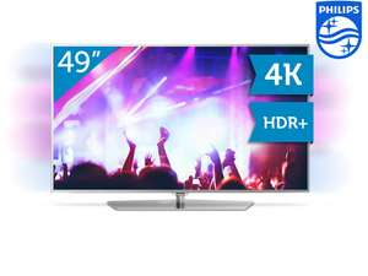 Philips 49PUS6551 49 Zoll 4K TV mit 2-seitigem Ambilight