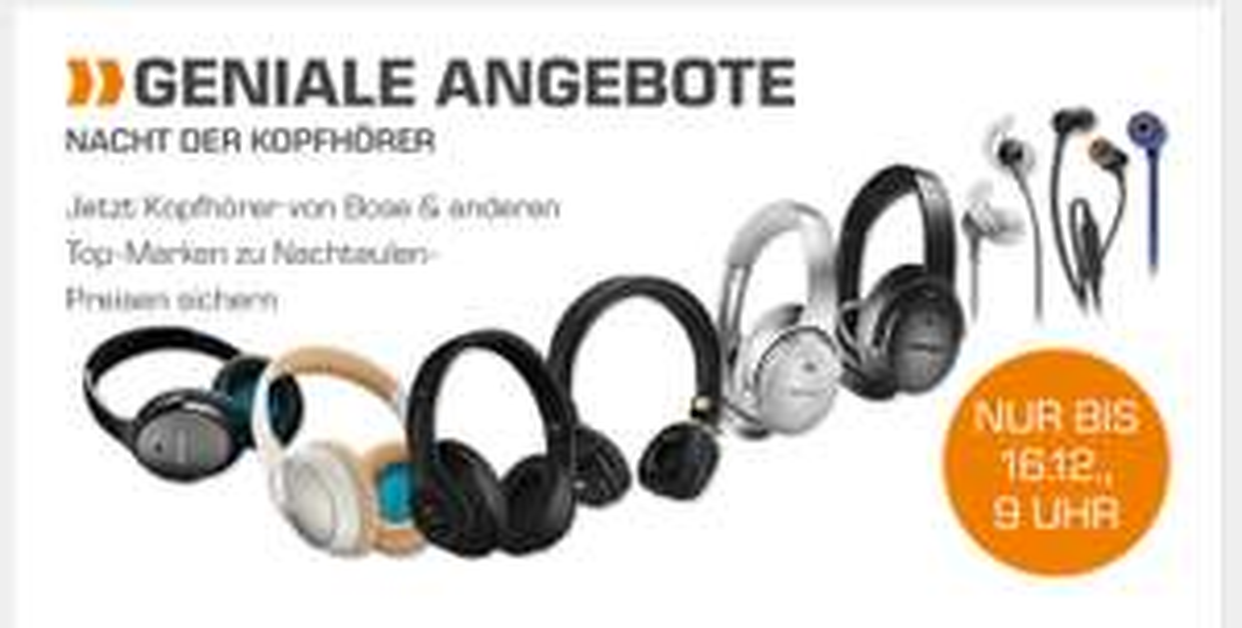 (Aktion noch aktiv) Nacht der Kopfhörer Saturn nur online  ...  von günstig bis teuer / Sammel-Deal