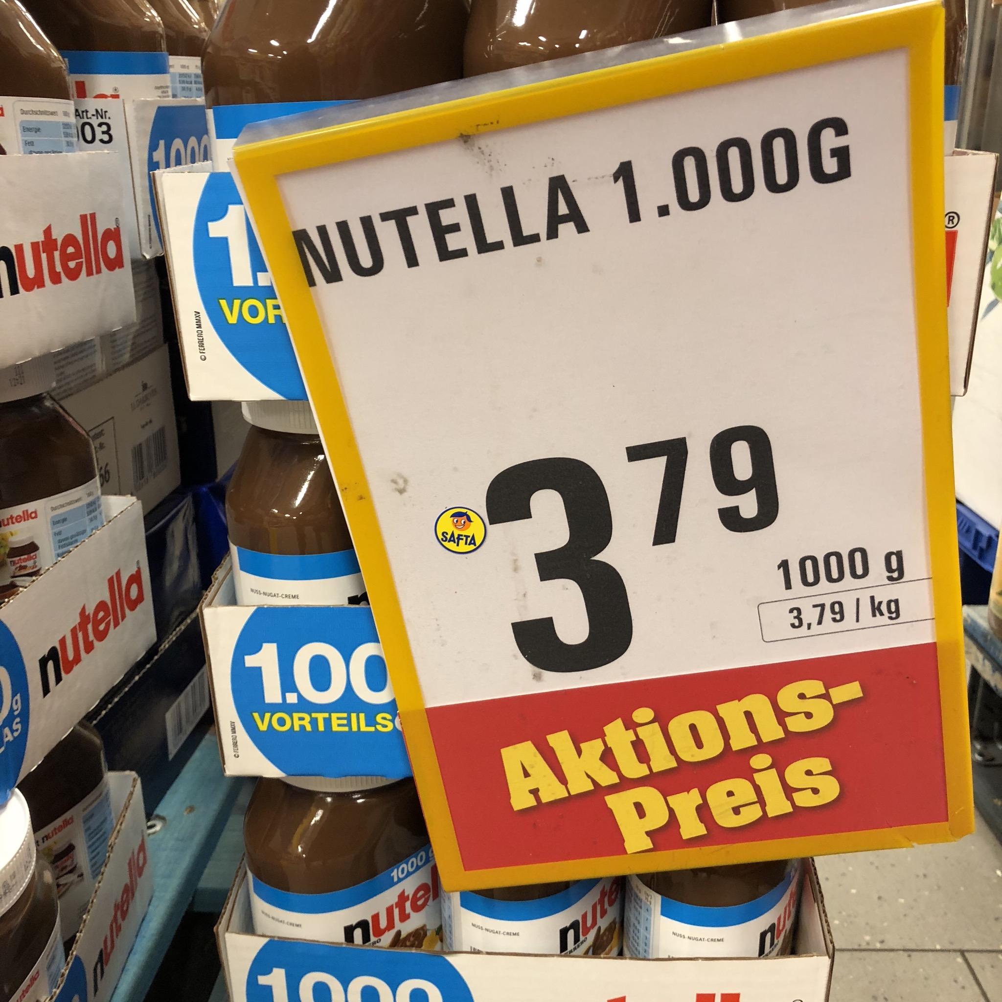 (Offline) Nutella bei Netto (Scotty) altes Rezept! 1000 Gramm