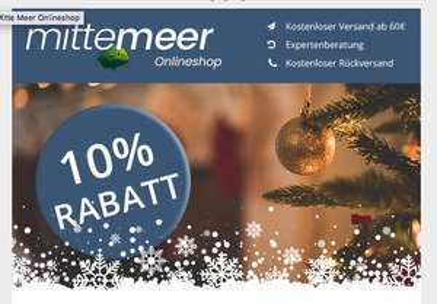 10% Rabatt im Mitte Meer Shop - Wein und Mediterrane Lebensmittel
