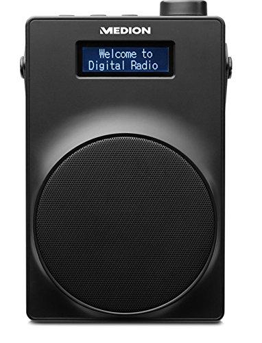 Medion DAB+ Radio, PLL UKW, 1,8 Zoll Display, Akku, Teleskopantenne, Kopfhöreranschluss, USB Ladeanschluss, 30 Watt, schwarz, blau, gelb, rot, weiß