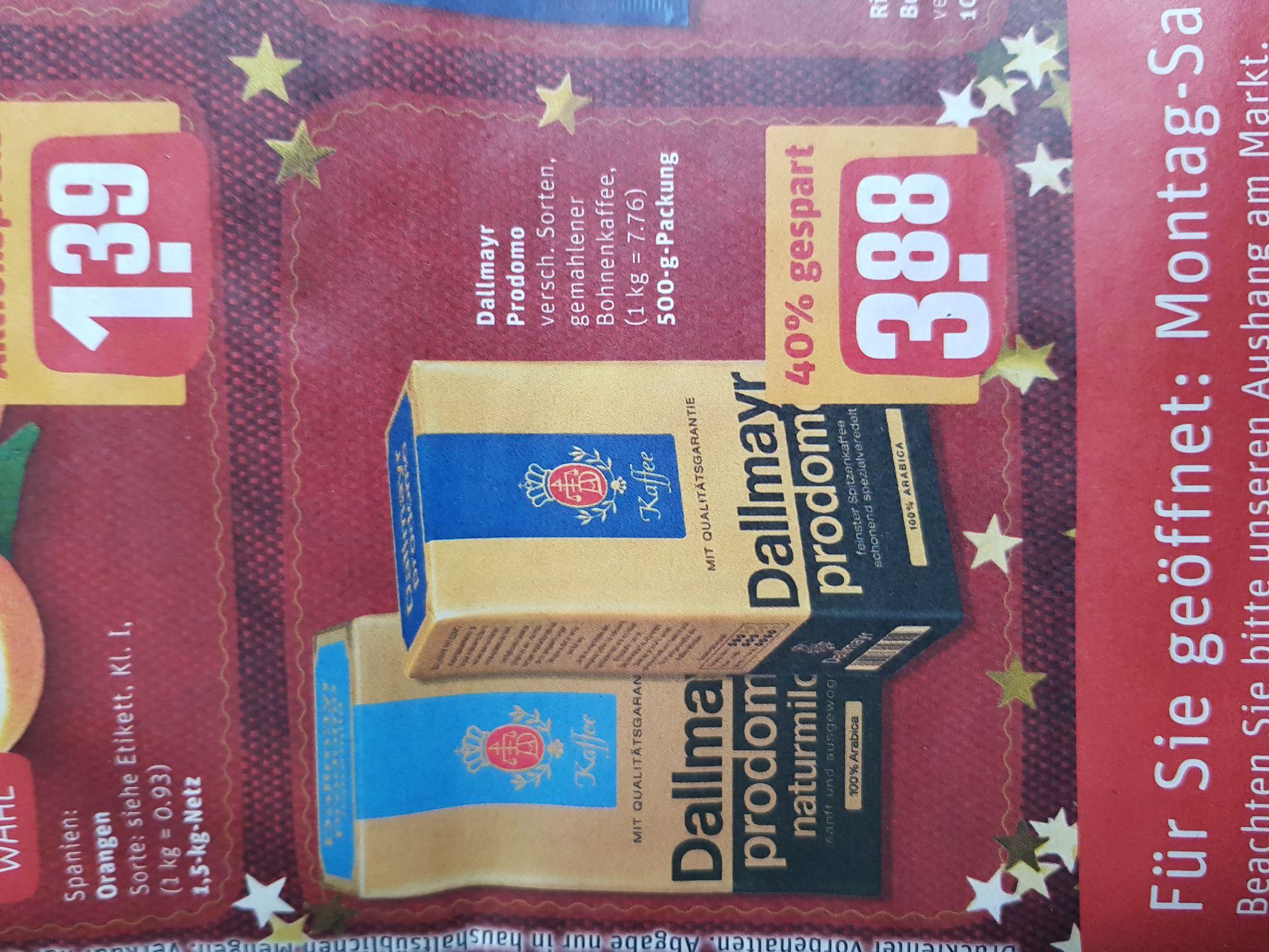 (Rewe) ab 18.12. Dallmayr Prodomo für 3.88€