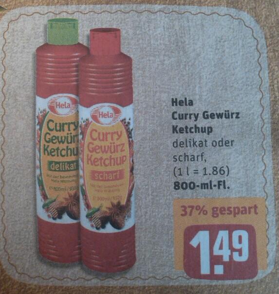[REWE] Hela Curry Gewürz Ketchup