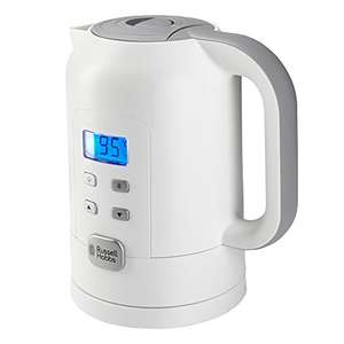 [Amazon - Prime] Russell Hobbs Precision Control 21150 -70 Wasserkocher (Warmhaltefunktion, Elektronische Temperatureinstellung mit LCD-Anzeige), weiß 22 €