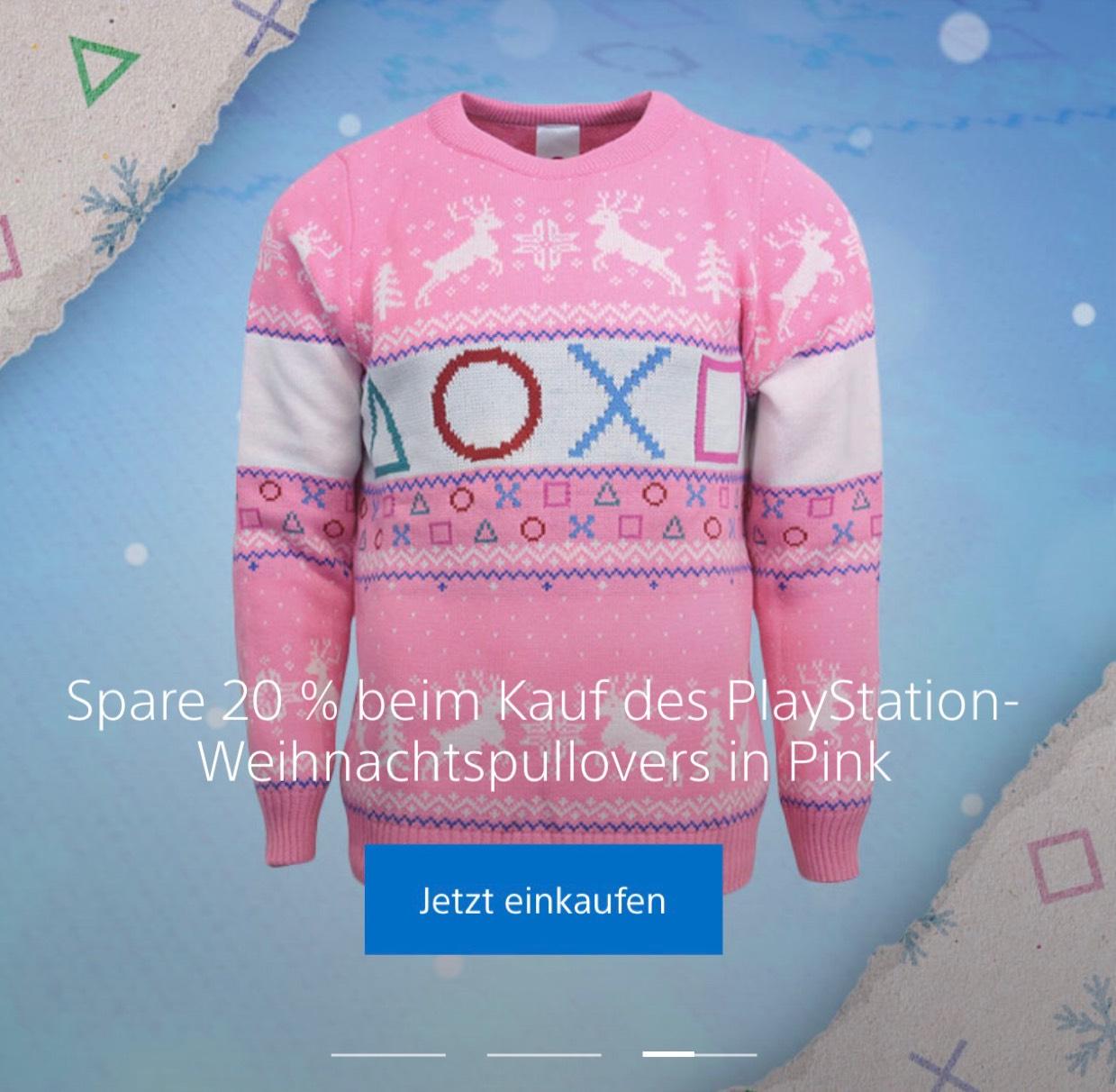 20% auf Weihnachtspullis 50% auf Manschettenknöpfe bei PlayStation Gear