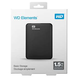 WD Elements Portable (2017 Version) | 1.5 TB, USB 3.0, 2,5 Zoll | Bei Saturn oder Amazon inkl. Versand | Bewertung: 4,4 auf Amazon
