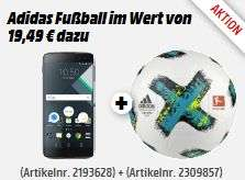 "[Mediamarkt] Adidas Fußball inc. Blackberry DTEK 60 schwarz [13,9cm (5.5"") 2KHD-Display, 2.15GHz HexaCore-CPU, 21MP Kamera] für 299,-€"