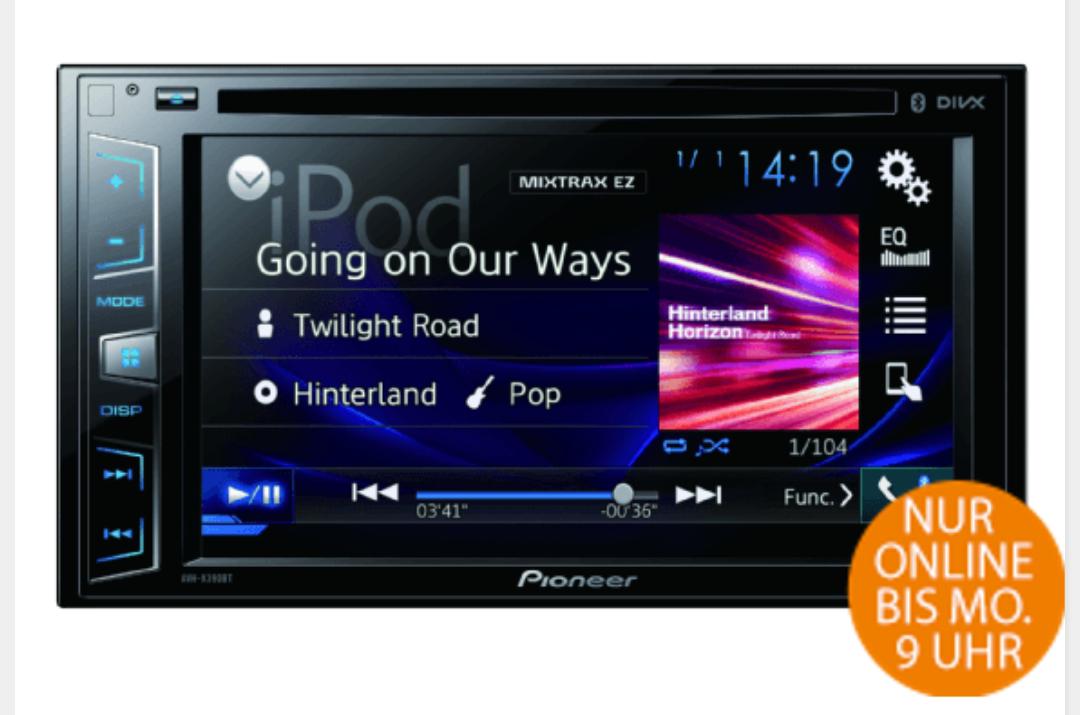 PIONEER AVH-X390BT, AUTORADIO, Doppel DIN |  Amazon
